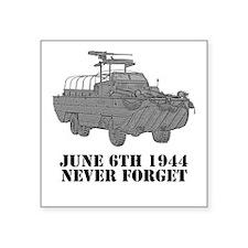D-Day Square Sticker
