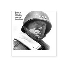 George Patton Square Sticker