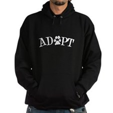 Adopt (With Paws) Hoodie (dark)