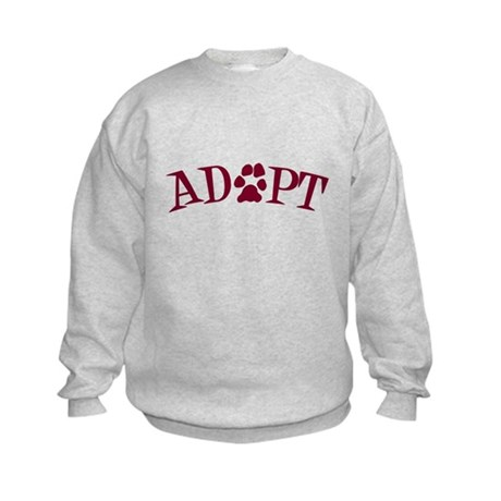 Adopt (With Paws) Kids Sweatshirt