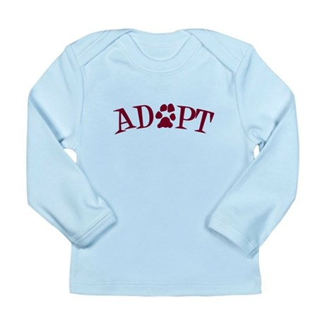 Adopt (With Paws) Long Sleeve Infant T-Shirt