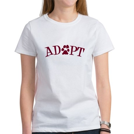 Adopt (With Paws) Women's T-Shirt