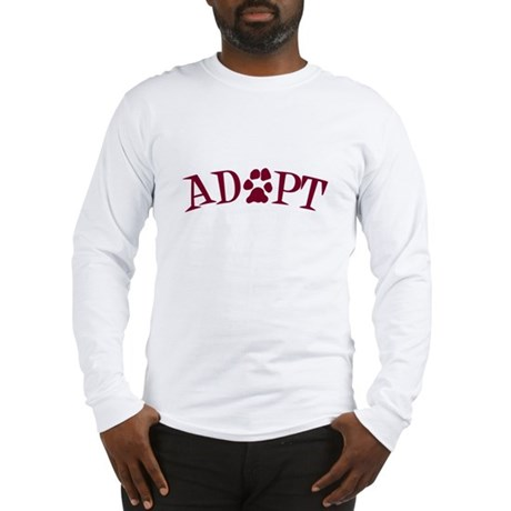Adopt (With Paws) Long Sleeve T-Shirt