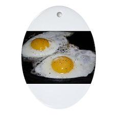 Fried Eggs eggs over easy Ornament (Oval)