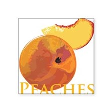 Velvety Peaches Square Sticker