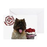 Cupcake Cairn Terrier Greeting Card