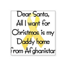 Dear Santa Daddy Afghanistan Square Sticker