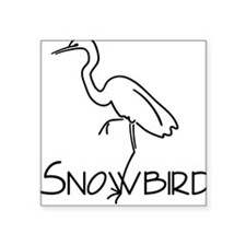 Snowbird Square Sticker