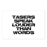 Tasers Speak Louder Than Words Postcards (Package