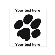 Pawprint - Customisable Square Sticker