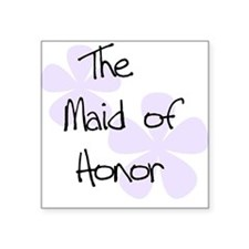 Maid Honor Lilac Square Sticker