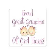 Proud Great Grandma Girls Square Sticker