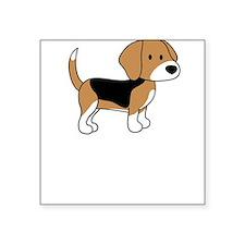 Cute Beagle Square Sticker