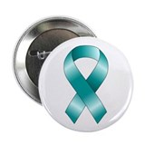 "Teal Ribbon 2.25"" Button (10 pack)"