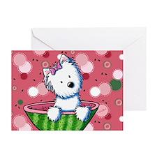 KiniArt Watermelon Westi Greeting Cards (Pk of 20)