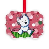 Watermelon Westies Picture Ornament