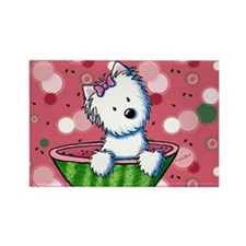Watermelon Westies Rectangle Magnet