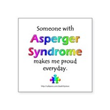 """Asperger Syndrome Pride"" Square Sticker"