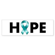 Teal Ribbon Hope Bumper Sticker