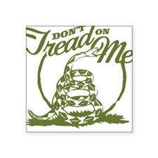 Dont Tread Snake Square Sticker