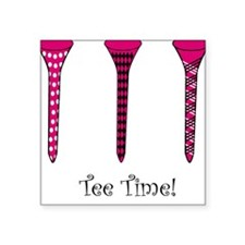 Tee Time! Square Sticker
