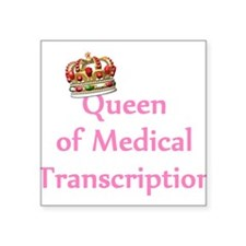 Medical Transcription Square Sticker