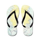 Yellow Barrel Cactus Flowers Flip Flops