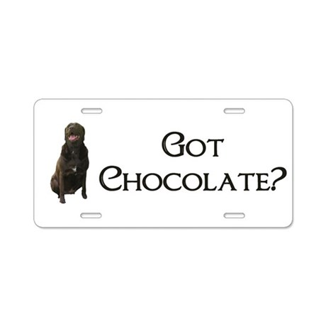 got chocolate? Aluminum License Plate