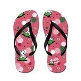 Watermelon Westie Girls Flip Flops