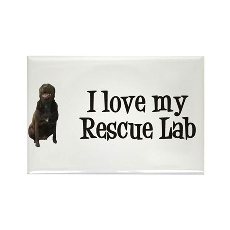 Rescue Lab Rectangle Magnet