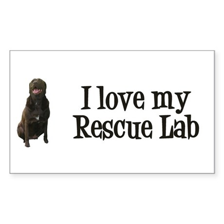 Rescue Lab Sticker (Rectangle)