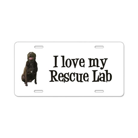 Rescue Lab Aluminum License Plate