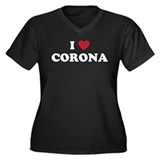 CORONAwhite.png Women's Plus Size V-Neck Dark T-Sh