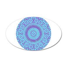 spiritual meditation mandala (aqua) 38.5 x 24.5 Ov