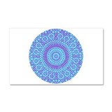 spiritual meditation mandala (aqua) Car Magnet 20