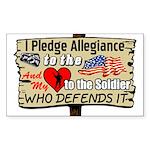 """I Pledge Allegiance"" Sticker (Rectangle"