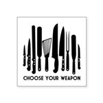 Choose Weapon Square Sticker 3