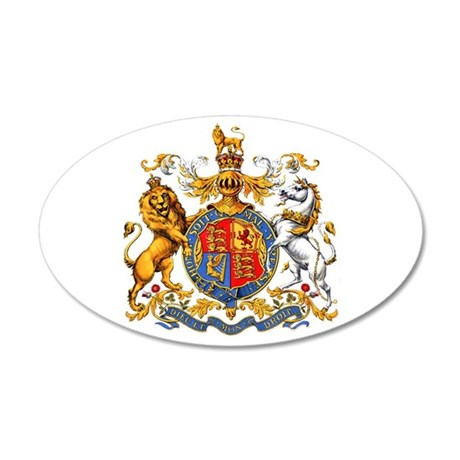 Royal Coat of Arms 38.5 x 24.5 Oval Wall Peel