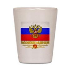 Russian Flag COA Shot Glass