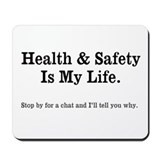 Health and Safety Quote Mousepad
