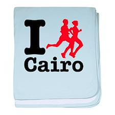 I Run Cairo baby blanket