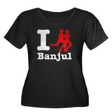 I Run Banjul Women's Plus Size Scoop Neck Dark T-S