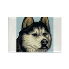 Husky Rectangle Magnet (100 pack)