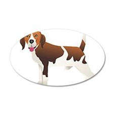 Beagle 38.5 x 24.5 Oval Wall Peel