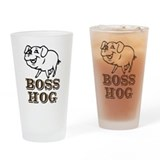 Boss Hog Drinking Glass