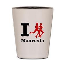 I Run Monrovia Shot Glass
