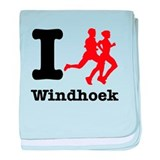I Run Windhoek baby blanket