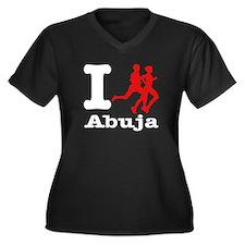 I Run Abuja Women's Plus Size V-Neck Dark T-Shirt