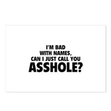 Call You Asshole Postcards (Package of 8)