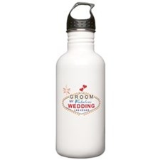 Las Vegas Groom Sports Water Bottle
